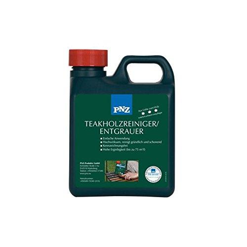 PNZ Teak - Holz- Reiniger Teak - Holz - Entgrauer, 1 Liter (Teak Möbel Reiniger)