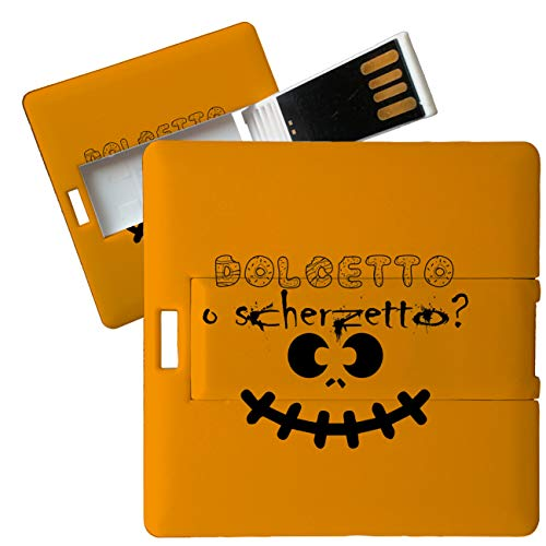 My Custom Style Pen Drive USB Kollektion #Halloween_A#4/8/16 Gb Cubo Card_4 GB Halloween-Dolcetto - Halloween Dolcetto Di