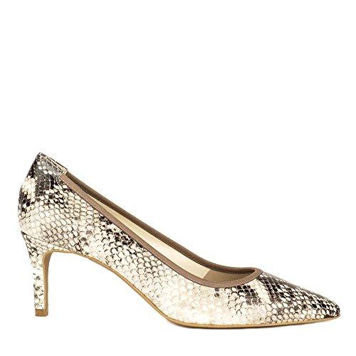 Elia B Chaussures Eloise Escarpins en Cuir Femme Gris