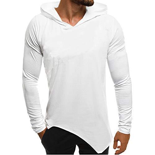Preisvergleich Produktbild Herren Pullover Streifen Kapuzenpullover Hoodie Strickpullover mit Kapuze Longsleeve Sweater Sweatshirt