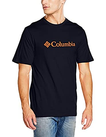 Columbia Pioneer Peak II Short Sleeve T-Shirt Small Collegiate Navy