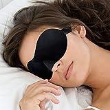 K&F Locaso 3D Premium Occhiali da notte maschera per dormire da donna e uomo ragazzi. Occhiali da letto con innovativa forma bombata per quasi senza pressione sugli occhi. Include