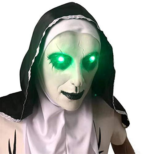yestter Halloween Nonne Glow Maske 2019 Film Kostüm, The Conjuring, Maske, Latex, Horror Kostüm, Halloween Kostüm Für Scary Zombie Mask Cosplay Masquerade Masken Full Head (Maske 2019 Halloween Film)