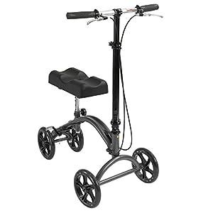 Drive DeVilbiss Healthcare Height Adjustable Knee Walker with Hand Brakes and Fold Down Tiller