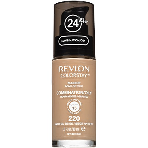 Revlon ColorStay Makeup Foundation für Mischhaut und ölige Haut SPF15#220 Natural Beige 30ml (Foundation Natural Beige)