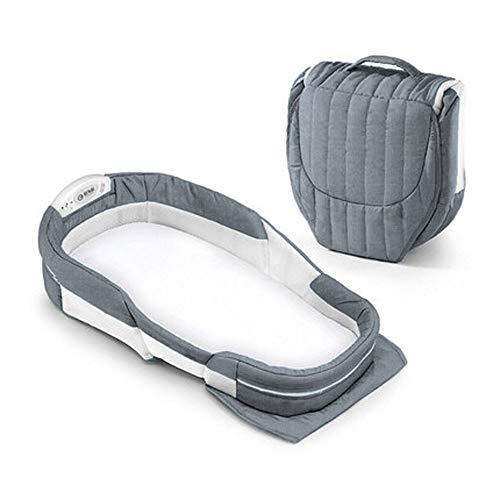 Bionic Bed Lit de voyage multifonctionnel pour lit à dos anti-utérin pour lit à dos néonatal, poches à fermeture éclair, idéal pour votre bébé, votre nouveau-né ou votre enfant