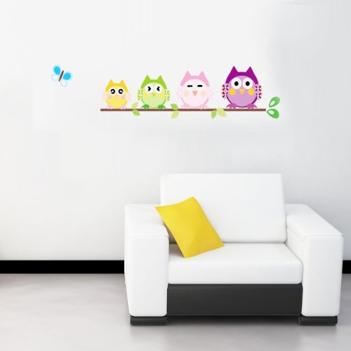 WallStickersDecal - Adesivo da parete con civette