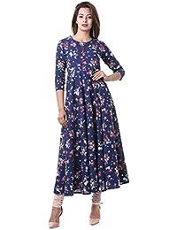 Beautiful Bollywood Kurti For Women Stylish Floral Print Flared Anarkali Kurties By Yash Gallery