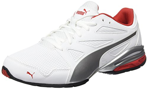 Puma Tazon Modern SL FM, Chaussures Multisport Outdoor Homme, White-High Risk Red, 0 EU