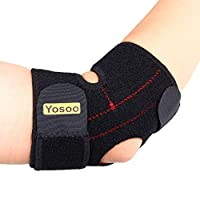 Yosoo Adjustable Neoprene Tennis Golfers Elbow Brace Wrap Arm Support Strap Band