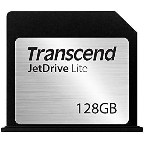 Transcend JetDrive Lite 130 - Tarjeta de expansión de almacenamiento de 128 GB, negro y plata