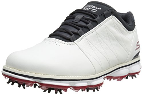 2015-skechers-go-golf-pro-performance-division-leather-mens-golf-shoes-waterproof-white-navy-75uk