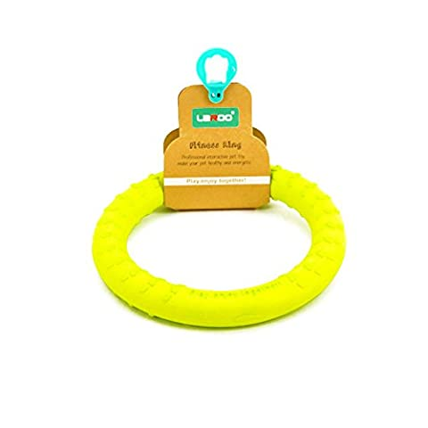 LaRoo Dog Flying Ring Frisbee Animaux de compagnie Flying Disc Anneau de fitness non toxique pour les chiens - Citron