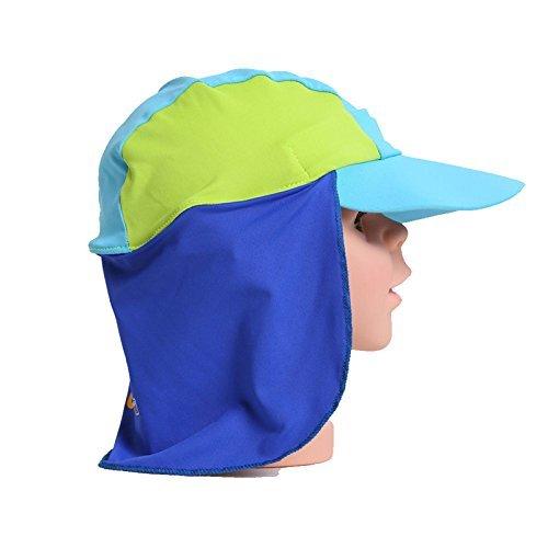 Baby Sun Protection Hat UPF 50Plus Kleinkind Junge Mädchen Schutz Kappe XS Light Blue&green ()
