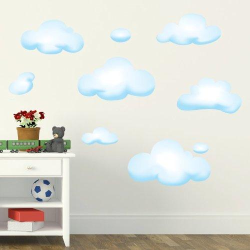 STIKID - WALL CLOUDS - Wall stickers - Wandtattoo Wallsticker - aufkleber - decal - kinder deco