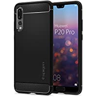 Spigen Cover Huawei P20 PRO, [Rugged Armor] Impressionante Black [Design Meccanica Durevole] Massima Protezione da Cadute e Urti - TPU Silicone Custodia Cover Huawei P20 PRO (2018)