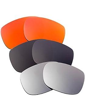 Hkuco Plus Mens Replacement Lenses For Oakley TwoFace Red/Black/Titanium Sunglasses