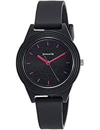 Sonata Analog Black Dial Girls Watch-87024PP06