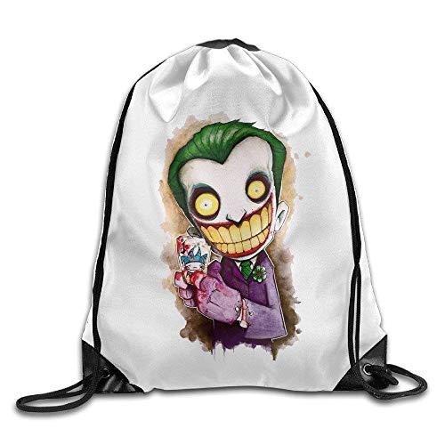 Icndpshorts Popular Cartoon The Joker Drawstring Backpack String -
