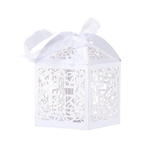 Tinksky portaconfetti scatole regalo scatole bomboniera caramella bomboniere di matrimonio segnaposto regalo - 50 pezzi