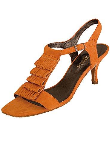 Marion Spath Damen 19-03-14 Wildleder Designer-Sandalette Orange