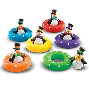 Learning Resources-Pingüinos Colour Play Penguins Smart Splash para relacionar Colores y Formas, (LER7308)
