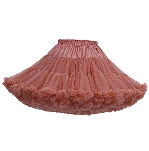 (Tütü Damen Tüllrock Mädchen Ballet Tutu Rock Petticoat Unterrock Ballett Kostüm Tüll Röcke Festliche Tütüs Erwachsene Pettiskirt Ballerina Petticoat Für Dirndl Ballettrock XY)
