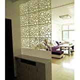 Alcoa Prime 4pc Room Divider Folding Screen Space Partition Wall Haning Deco White Round