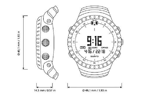 Suunto Core alle, Unisex Compass - Erwachsene, Schwarz, Einheitsgröße - 5