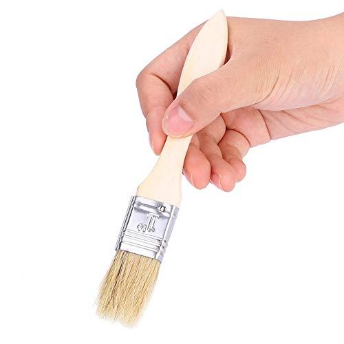 41t4bHGH9KL - Alomejor 5 Stücke Backpinsel Holzgriff Backöl Pinsel Flachgebäck BBQ Sauce Pinsel Grill Zubehör Pinsel für Grill Naturborsten Backpinsel mit Langen Holzgriff