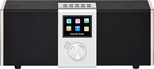"15100 NOVA Internet-/DAB+ Radio (2.1 Stereo Sound, WLAN,LAN,DAB,DAB+,UKW,Bluetooth, 8,13cm (3,2"") TFT Farb Display, Fernbedienung, USB-,Line-In,Line-Out,Kopfhörer-Anschluss, opt. Ausgang, Weck-Schlummer Funktion, kostenlose App) silber"