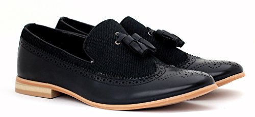 Hommes Élégant Robe Fashion À Enfiler Mocassins À Glands Décontracté Bureau pointure de chaussures Noir