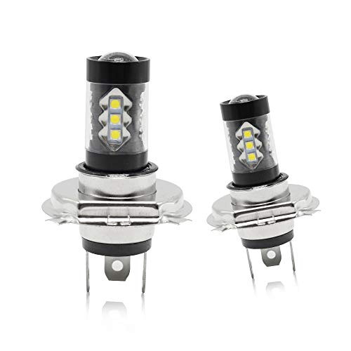 Phare Antibrouillard H4 LED Lumières avant 80W 6000K Blanc 12V Ampoule LED Lampe de course de jour de voiture DRL 2828 LED Chips Diesel Auto Zone