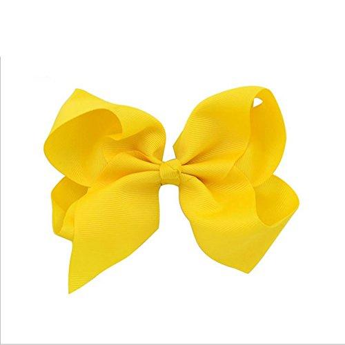 rzctukltd-1pcs-6-big-handmade-bow-hair-clip-alligator-clips-girls-ribbon-kids-sides-yellow