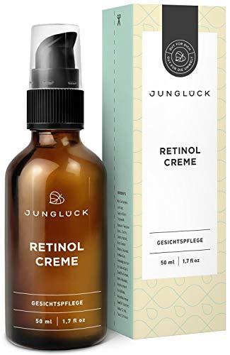 Junglück vegane Retinol Creme | 50 ml in Braunglas | Vitalisierende Gesichtspflege für strahlende Haut | Wir stehen für natürliche & nachhaltige Kosmetik made in Germany -