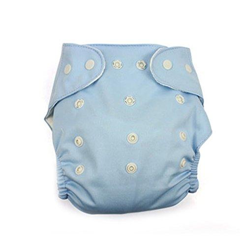 QHGstore Wiederverwendbare waschbare einstellbare ein Größe Baby-Taschen-Tuch Windeln Windel Blau & eindickend
