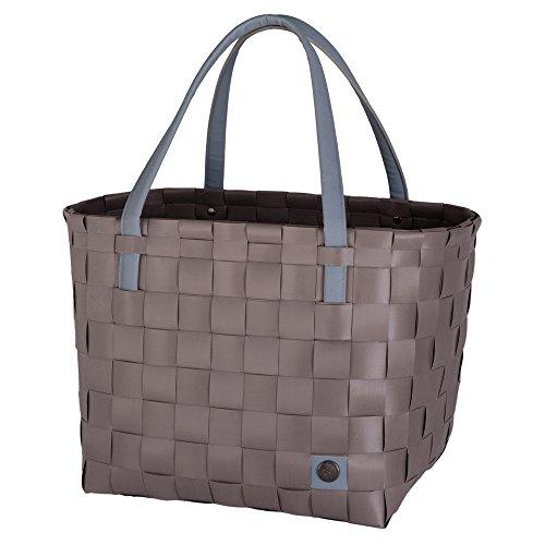 unek Waren Handed By Color Block recyceltem wiederverwendbar handgefertigt Woven Einkaufen Tasche mit weichem Komfort Griffe (Woven Shopper)