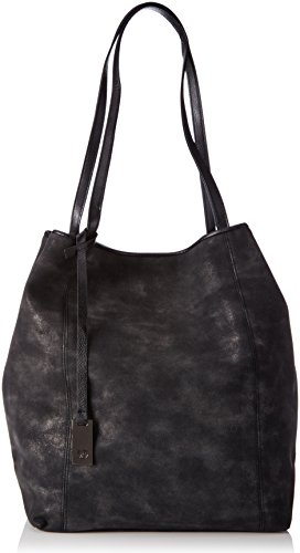 Tom Tailor Denim Damen MILA Shopper, (schwarz 60), 44x35x16 cm (Toms Schwarz Outfit)