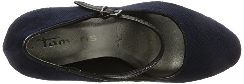 Tamaris Damen 24408 Pumps Blau (Navy/Black)