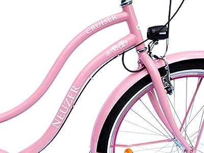 NEUZER Damen Beachcruiser 26 Zoll 3 Gang Shimano rosa StVZO-Ausstattung
