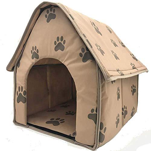 Hund Haus Katze Bett Für Kleine Hunde Und Katzen Tragbare Pet House,47 * 49 * 49CM (Hund Kleiner Haus-heizung)