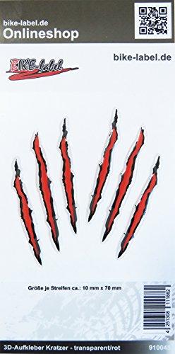Pegatinas 3D 910045, Monster, arañazos, rojo, decoración, pegatinas protectoras