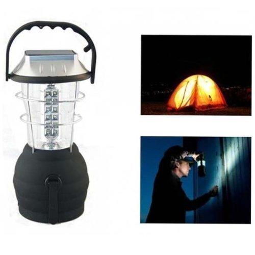 Outdoor Solar 36LEDs mano lampada manovella della dinamo di campeggio Lanterna Luce