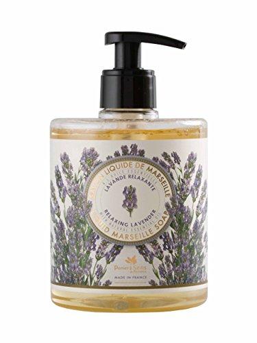 Neu aus der Provence: Hochwertige Flüssigseife Savon de Marseille Lavendelduft 500 ml (Blumen-seife)