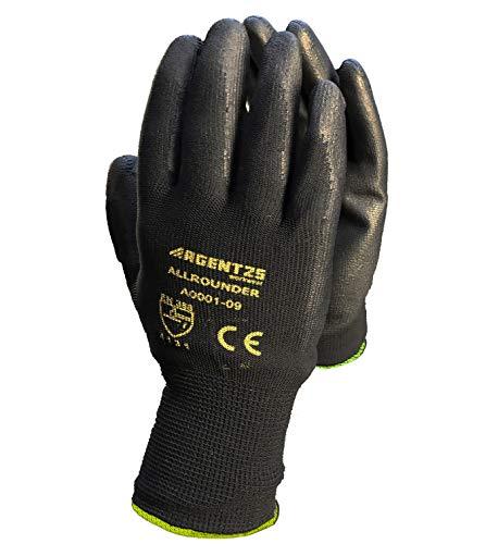 Arbeitshandschuhe aus Nylon für Herren Gr 10 schwarz   Nylonhandschuhe Montagehandschuhe Arbeitshandschuh Herren Gloves für den Garten Mechaniker Handwerk-Baustelle-Hobby 12 Paar