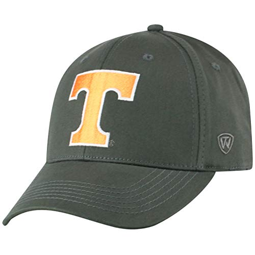 Top of the World NCAA Tennessee Volunteers Men's Fitted Relaxed Fit Charcoal Icon Hat, Charcoal