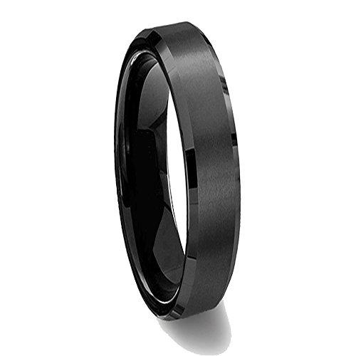 Gemini Damen-Ring Titan , Herren-Ring Titan , Freundschaftsringe , Hochzeitsringe , Eheringe, Farbe: Schwarz Breite 5mm Größe60 (19.1)