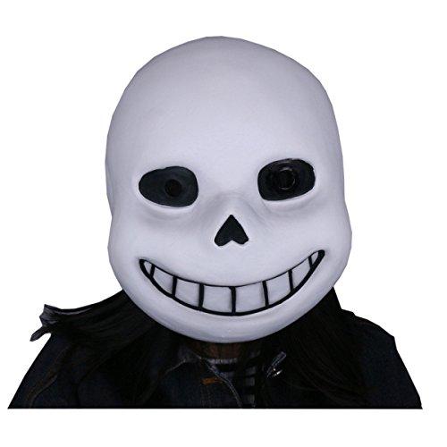 Nihiug Undertale Spiel Legende Halloween Animation Maske Schaum Kopf Prop Emulsion Haut Mit Haar Landisun Cosplay Halloween Kostüm,A