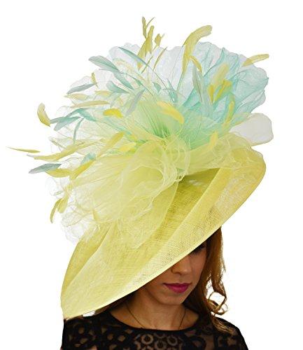 Superbe mundhoo Grand Ascot Derby Bibi Chapeau–avec bandeau–Disponible en 30couleurs Noir - Noir