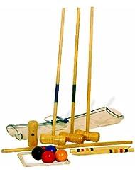 Small Foot by Legler Krocket für den Garten oder im Park, für Kinder ab 5 Jahren, mit vier Mallets und praktischer Transporttasche